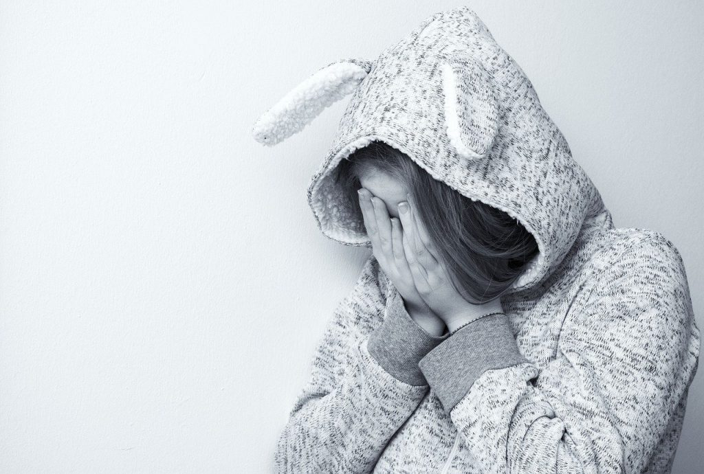 woman, sad, portrait